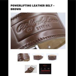 Clifford Lenox powerlifting belt